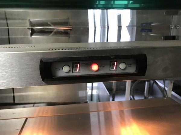 Heated deli counter