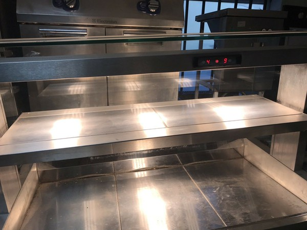 Secondhand heated deli counter