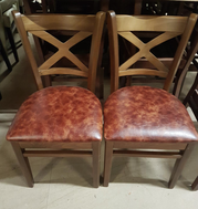 Secondhand cross back chairs