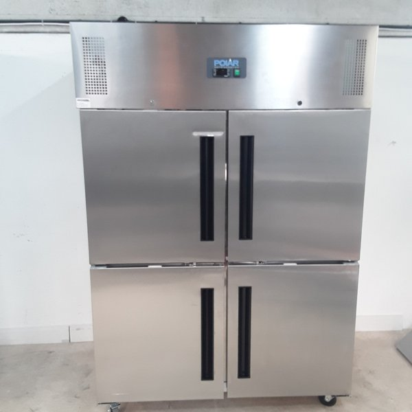 New B Grade Polar CW196 Stainless Double Upright Freezer(9228)