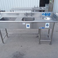 Used Stainless Steel Double Sink (9225)