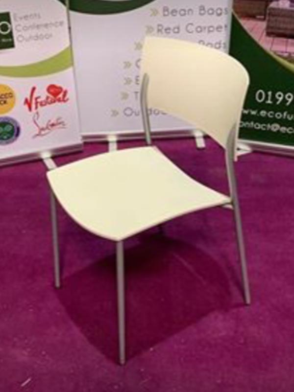 Cream Stacking Chairs