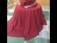 Round Burgundy Banqueting Tablecloths