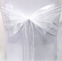 White Chair Sashes for sale
