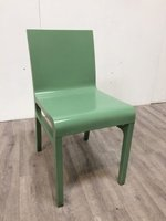 Green stacking bistro chairs