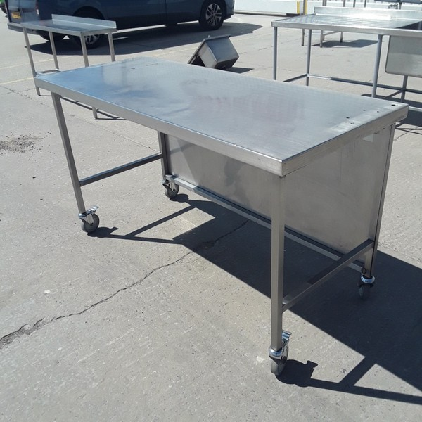 Used Stainless Steel Table (9241)