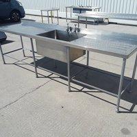 Used Stainless Steel Single Bowl Sink (9240)