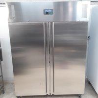 New B Grade Polar U635 Stainless Double Upright Freezer Heavy Duty(U9249)