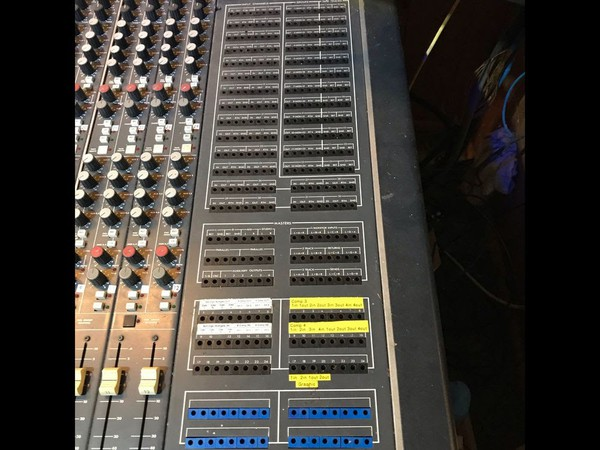 Studio Mixing Desk 32 in, 12 record, 24 playback.
