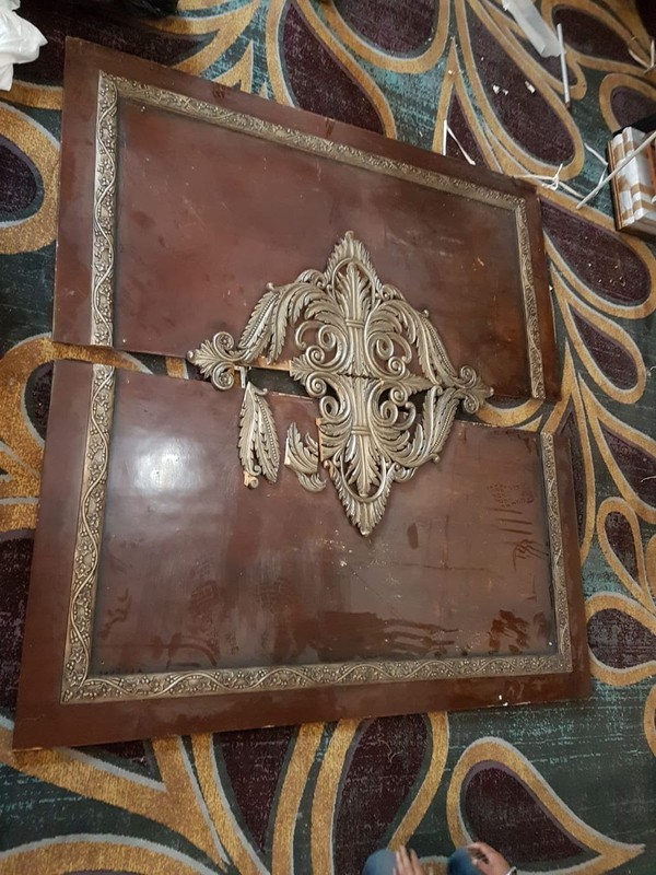 Carved wooden panel - Carved