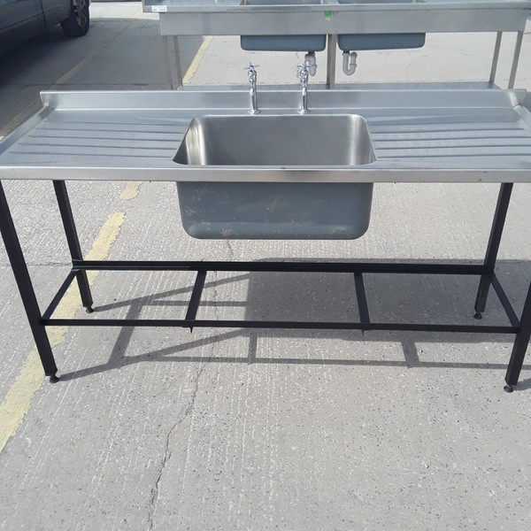 Used Stainless Steel Single Bowl Sink (9262)