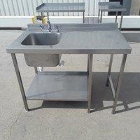 Used Stainless Steel Single Bowl Sink (9259)