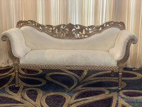 Gold Wedding Sofa Set With 2 Matching Side Seats