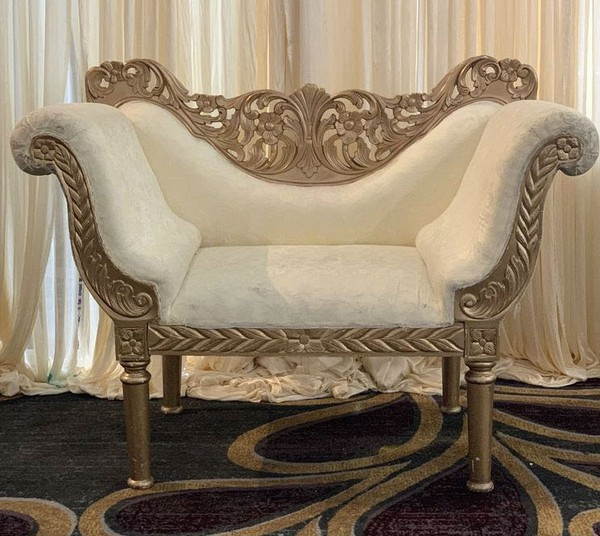 Gold carved wedding chairs