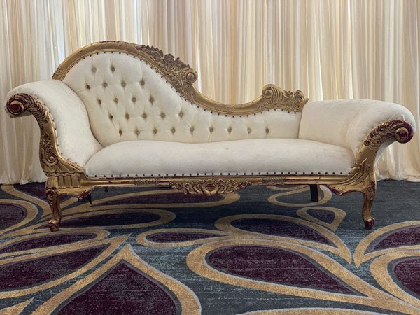 Gold Chaise Longue