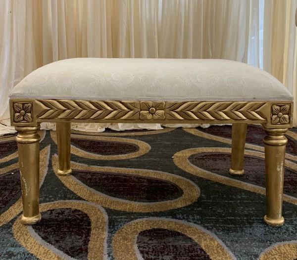 Gold foot stool