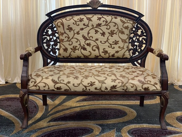 Indian carved wedding chairs
