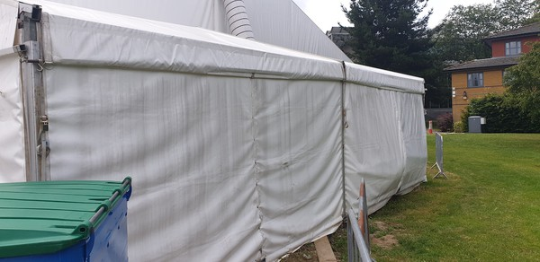 Used Clearspan 6m x 9m Heavy Duty Frame Marquee
