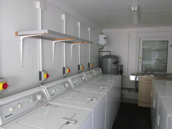 Mobile Laundry cabin