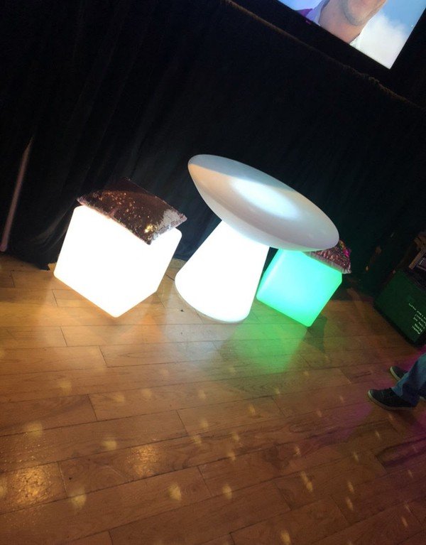 Event furniture LED colour changing