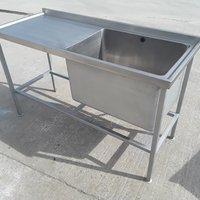 Used Stainless Steel Single Bowl Sink (9287)