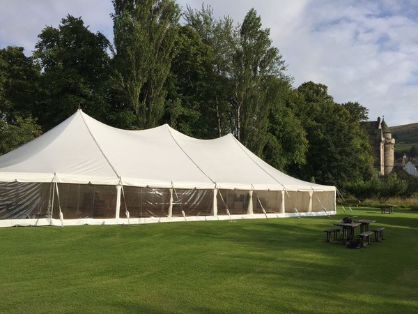 Wedding marquee traditional