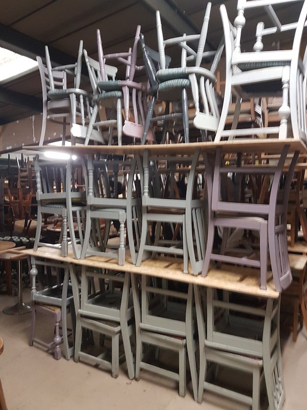 Shabby Chic Style Farmhouse Chairs