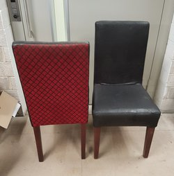 red and black dining chairs for sale
