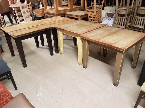 Chunky Mellowed Oak Tables