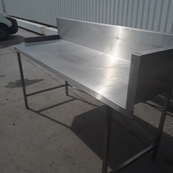 Buy Used Stainless Steel Table  220cmW x 80cmD x 93cmH
