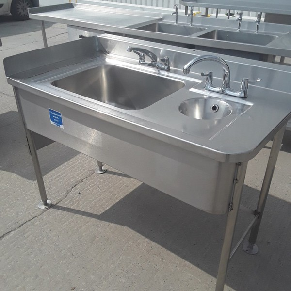 Buy Used Stainless Steel Double Sink (9295)