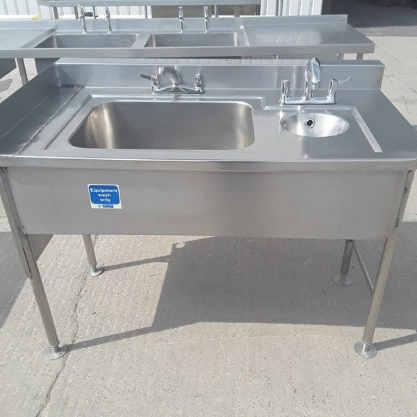 Used Stainless Steel Double Sink (9295)