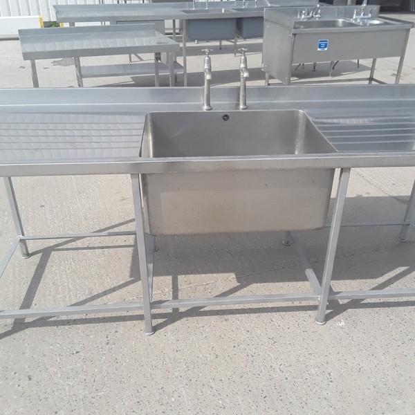 Used  Stainless Steel Single Bowl Sink (9296)