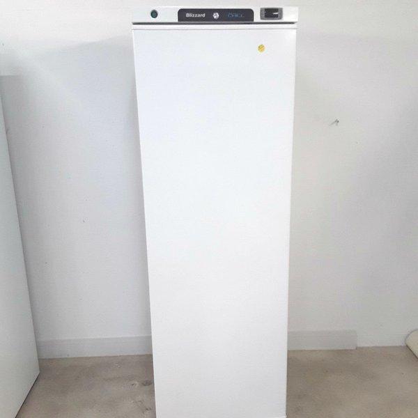 Tall white commercial fridge