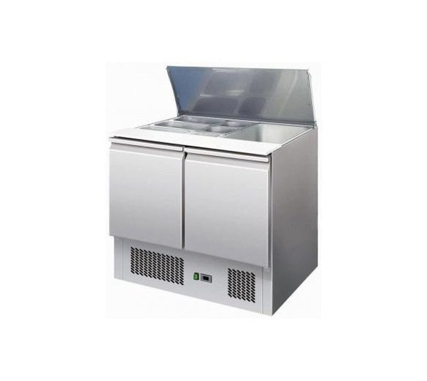Ice-A-Cool ICE3800GR 2 Door Saladette With retractable lid