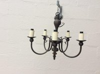 Black brass chandelier