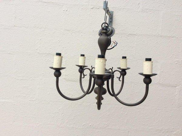Black brass chandelier