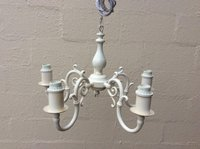 Four arm white chandelier for sale