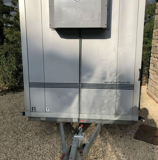 Twin axle fridge trailer