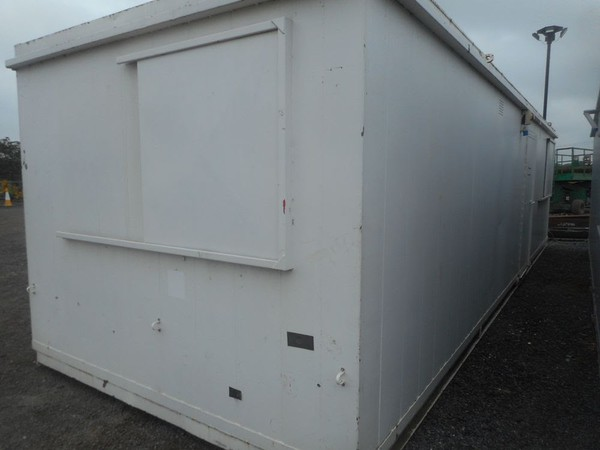 Second Hand 32' x 10' anti vandal office container portable building open plan