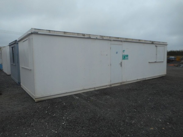 Used 32' x 10' anti vandal office container portable building open plan