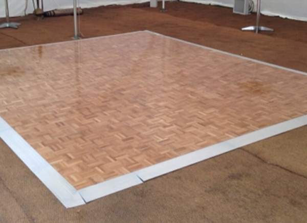 Parquet dance floor with edging for sale
