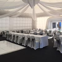 Inflatable 15 x 15 mtr marquee. soft close doors, up lighters and more available