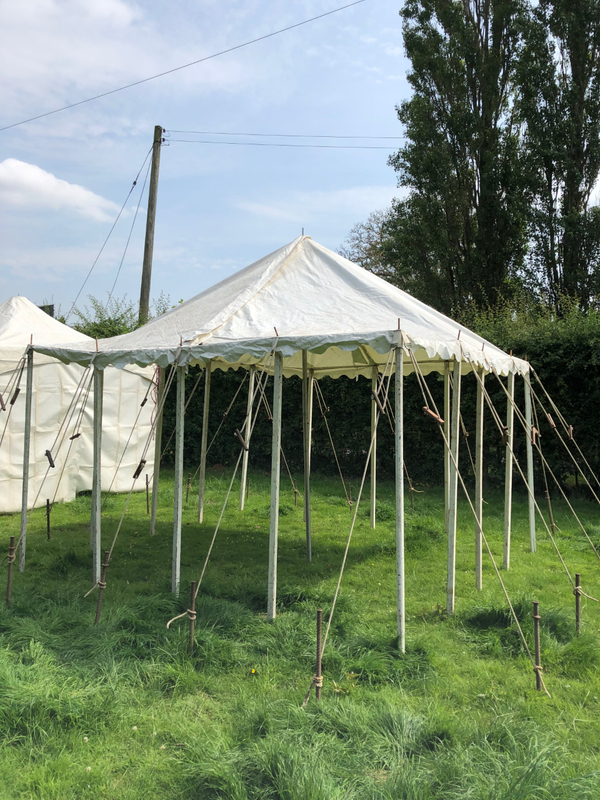 Secondhand pole marquee