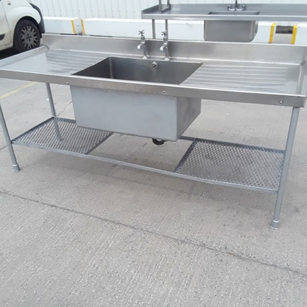 Used  Stainless Steel Single Bowl Sink (9318)
