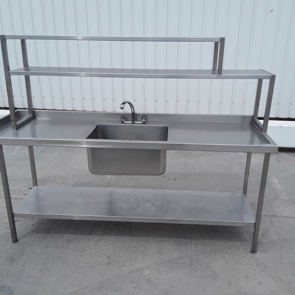 Used Stainless Steel Single Bowl Sink (9317)
