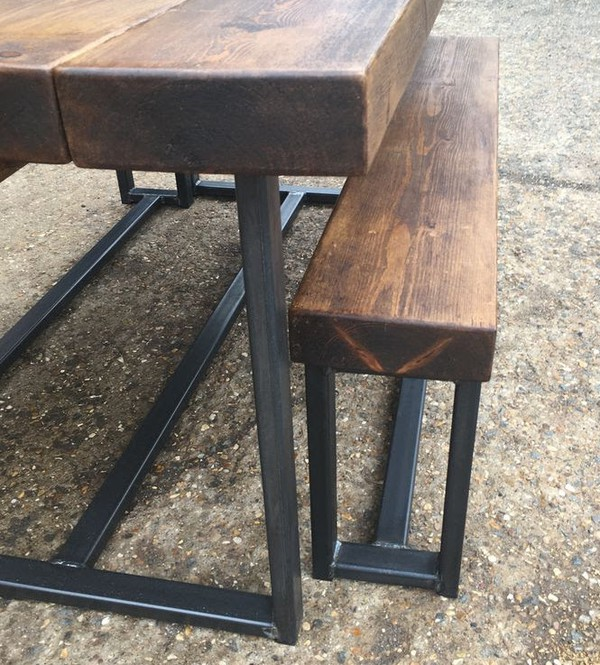 New Industrial Style Extra Chunky Bench Diner