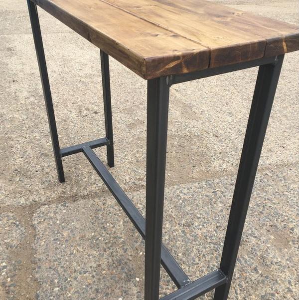 Bespoke Industrial Style Handmade Poseur Table