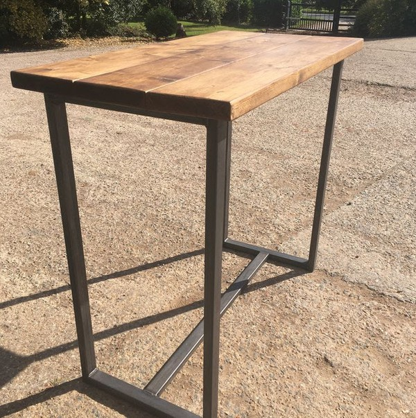 Industrial Style Handmade Poseur Table