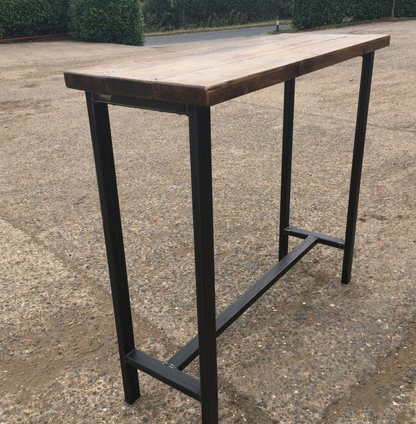 Industrial Style Handmade Poseur Table  Made to Order